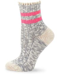 03a6a350ad Free People Melbourne Heathered Crew Socks in Blue - Lyst