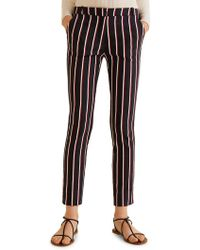 Mango - Crop Slim-fit Trousers - Lyst