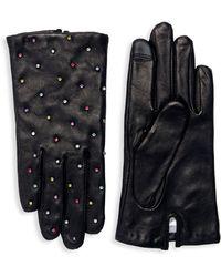 Echo - Rhinestone Embellished Leather Gloves - Lyst
