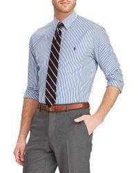 Polo Ralph Lauren - Slim-fit Striped Poplin Shirt - Lyst