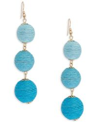 Lord & Taylor - Wrapped Ball Drop Earring - Lyst