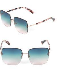 Kate Spade - 61mm Janays Square Sunglasses - Lyst