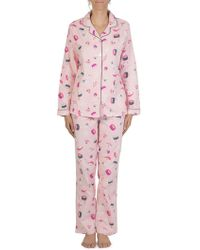 Claudel - Sushi All Flannel Two-piece Pajama Set - Lyst