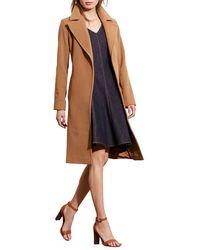 Lauren by Ralph Lauren - Belted Long-sleeve Coat - Lyst
