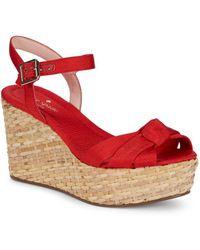 Kate Spade - Tilly Basket-weave Wedge Sandals - Lyst