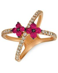 Le Vian - Nude Passion Ruby And 14k Strawberry Gold Crossover Ring - Lyst
