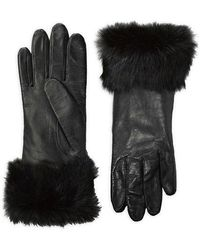 Lord & Taylor | Leather Rabbit Fur-cuff Gloves | Lyst