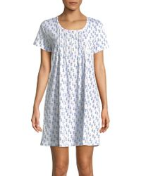 Carole Hochman - Striped Cotton Sleepshirt - Lyst