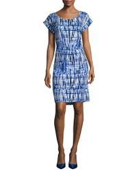 Jones New York - Printed Cap-sleeve Dress - Lyst