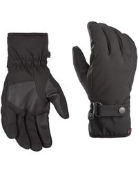 c3155d21cdba8 Fownes Men's Gathered-wrist Leather Gloves in Black for Men - Lyst