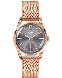 Henry London - Finchley Stainless Steel Analog Bracelet Watch - Lyst