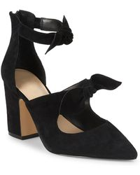 Lord & Taylor - Lucie Suede Bow Pumps - Lyst