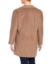 Ellen Tracy - Pickstitched Wool-blend Walker Coat - Lyst