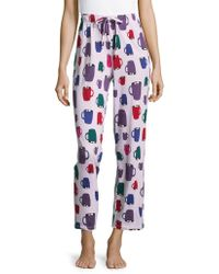 Lord & Taylor - Printed Lounge Pants - Lyst