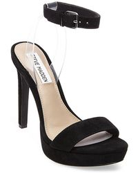 Steve Madden - Casita Suede Platform Sandals - Lyst