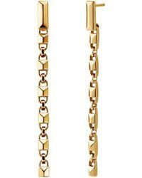 Michael Kors - Mercer Link Linear 14k Gold-plated Earrings - Lyst