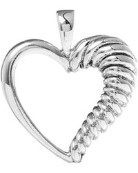 Lord + Taylor 925 Sterling Silver Half-rope Heart Charm - Metallic
