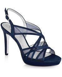 Adrianna Papell - Adri Strappy Mesh Platform Sandals - Lyst