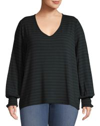 Lord & Taylor - Plus Striped Pullover - Lyst