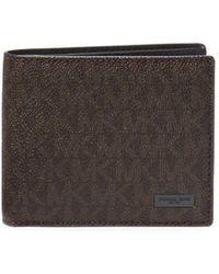 Michael Kors - Textured Bi-fold Wallet - Lyst