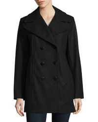 Marc New York - Double Breasted Coat - Lyst
