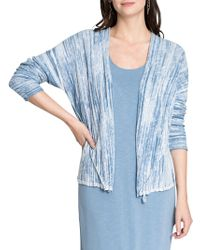 NIC+ZOE - Striped Open Front Cardigan - Lyst