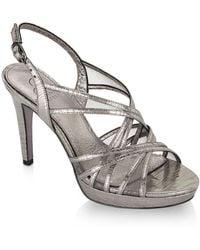 Adrianna Papell - Adri Strappy Metallic Strappy Sandals - Lyst