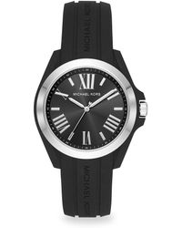 Michael Kors - Bradshaw Stainless Steel Silicone Strap Watch - Lyst