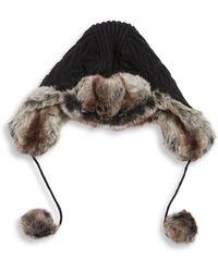 Parkhurst - Faux Fur-trimmed Trapp Hat - Lyst