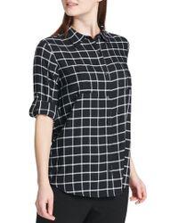 Calvin Klein - Windowpane Button-down Shirt - Lyst