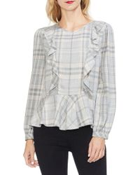 Two By Vince Camuto - Gilded Rose Plaid Twill Blouse - Lyst