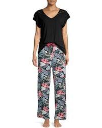 Sesoire Floral Pyjama Trousers - Black