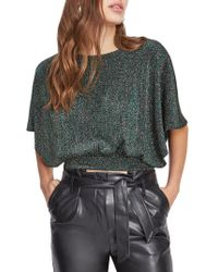 Miss Selfridge - Metallic Cropped Top - Lyst