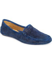 Patricia Green - Barrie Perforated Suede Loafers - Lyst
