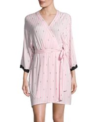 Betsey Johnson - Lace Heart Robe - Lyst