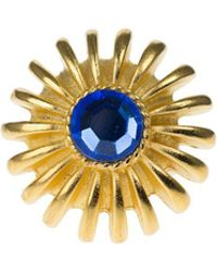 Kenneth Jay Lane - Faceted Stone Flower Ring - Lyst