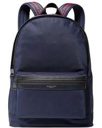 0100d5f5ef2a Michael Kors Kent Nylon-blend Backpack in Black for Men - Lyst