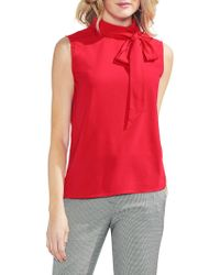 Vince Camuto - Satin Pussy Bow Blouse - Lyst