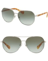 Pink Pony - 59mm Aviator Sunglasses - Lyst