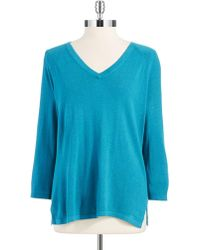 Jones New York - V Neck Sweater - Lyst