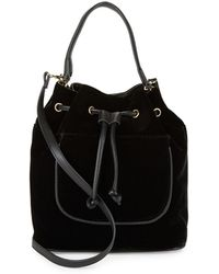 Lord & Taylor - Drawstring Top Handle Bag - Lyst