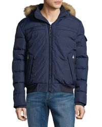 Pajar - Wes Down Bomber Jacket With Fox Fur Hood - Lyst