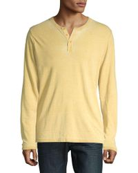 Lucky Brand - Sueded Burnout Pullover - Lyst