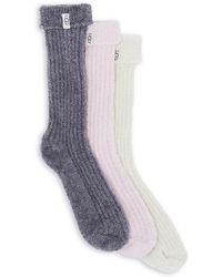 UGG - Three-pack Sparkle Sock Gift Set - Lyst