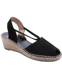 Andre Assous - Dainty Suede Slingback Wedge Sandals - Lyst
