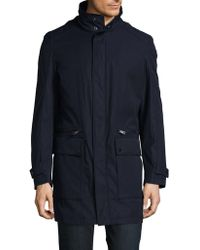 Strellson - Hooded Stand Collar Coat - Lyst