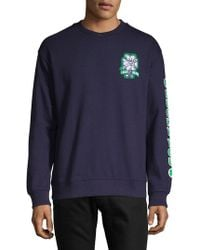 Lucky Brand - Totally 90's Collection Hap Patch Long-sleeve Crew Sweatshirt - Lyst