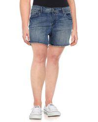 Jessica Simpson - Plus Mika Best Friend Distressed Denim Shorts - Lyst