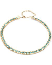 R.j. Graziano - Leather Woven Collar Necklace - Lyst