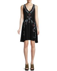 Free People - Adelaide Embroidered Shift Dress - Lyst
